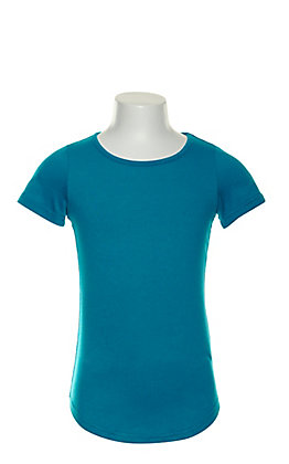 L&B Girl's Turquoise Short Sleeve Tee