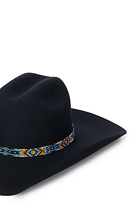 Multi Colored Beaded Hat Band
