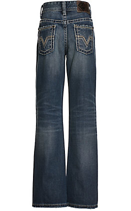 Rock & Roll Denim Boys' BB Gun Regular Fit Medium Wash Boot Cut Jeans