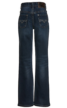 Rock & Roll Denim Boys' BB Gun Reflex Stretch Dark Wash Boot Cut Jeans