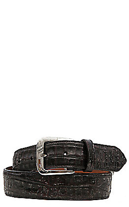 Black Jack Mens Black Cherry Caiman Crocodile Belly Belt