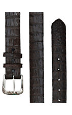 Black Jack Mens Chocolate Caiman Crocodile Belly Belt