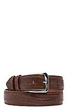 Black Jack Mens Cognac Caiman Crocodile Belly Belt