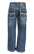 Rock & Roll Cowboy Boy's Medium Wash Regular Fit Boot Cut Jeans