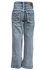 Rock & Roll Cowboy Boy's Light Wash Regular Fit Boot Cut Jeans