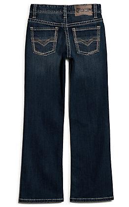 Rock & Roll Denim Boys' BB Gun Medium Vintage Wash Reflex Stretch Boot Cut Jeans