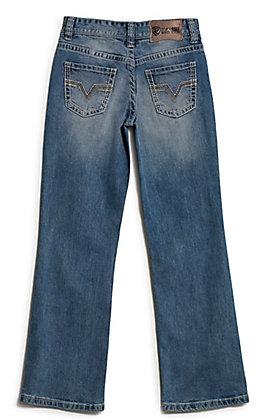 Rock & Roll Denim Boys' BB Gun Light Vintage Wash Reflex Stretch Boot Cut Jeans
