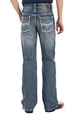 Rock & Roll Denim Boys V Stitch Regular Fit Boot Cut Jeans
