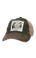 Lazy J Ranch Black Bull Blossom Patch Cap