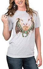 Lazy J Ranch Wear Bull Blossom Hereford T-Shirt