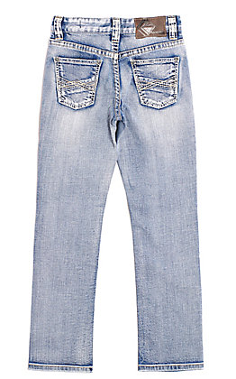 Rock & Roll Cowboy Boys' Reflex Revolver Light Wash Slim Fit Jeans