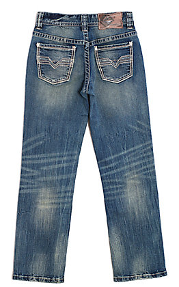 Rock & Roll Cowboy Boys' Vintage Wash Reflex Revolver Slim Fit Jeans