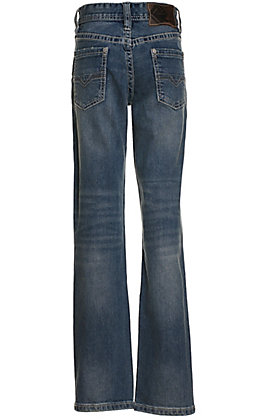 Rock & Roll Denim Boys' Revolver Reflex Stretch Medium Wash Boot Cut Jeans