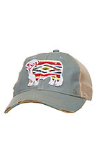 Lazy J Ranch Baby Blue Serape Hereford Cap