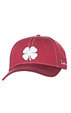 Black Clover Crimson with White Embroidered Logo Flex Fit Cap