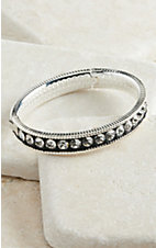 Montana Silversmiths Silver and Black Crystal Shine Bangle Bracelet