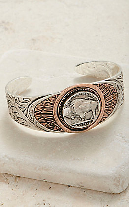 Montana Silversmiths Women's Buffalo Feather Cuff Bracelet