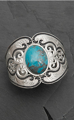 Montana Silversmiths Silver with Turquoise Stone Cuff Bracelet