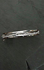 Montana Silver Smith Star Lights Along the Milky Way Hinged Bangle Bracelet
