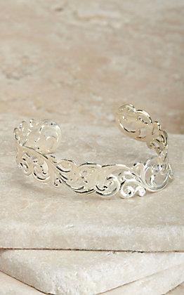Montana Silversmiths Silver Denim and Lace Filigree Cuff Bracelet