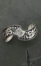 Montana Silversmiths Antiqued Twisted Cushion Cuff Bracelet