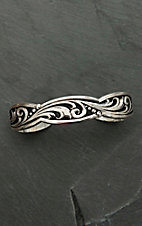Montana Silver Smith LeatherCut Trailing Vine Cuff Bracelet
