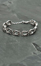 Montana Silversmiths Single File Horseshoe Bracelet