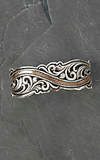 Montana Silver Smith River of Rose Gold Scroll Cuff Bracelet
