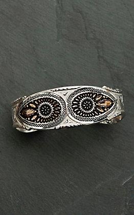 Montana Silversmiths Sunset Prairie Clover Cuff Bracelet