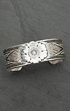 Montana Silver Smith Carved Peony Cuff Bracelet