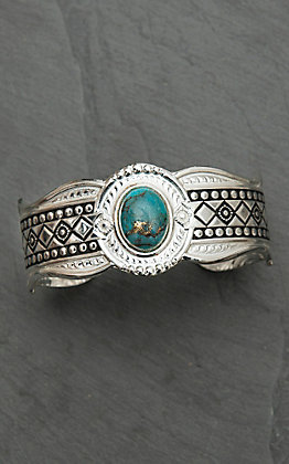 Montana Silversmiths Phases of the World Cuff Bracelet