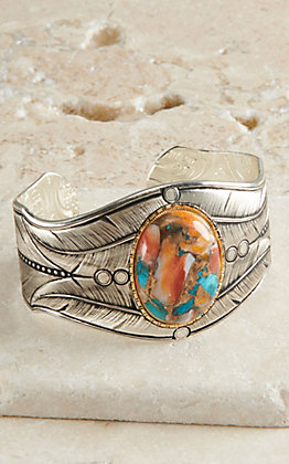 Montana Silversmiths Nature's Turquoise Silver Cuff Bracelet