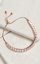 Montana Silversmiths Squarely a Rose Gold Tennis Bolo Bracelet