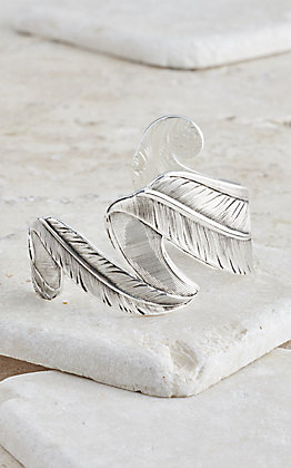 Montana Silversmiths Free Spirit Feather Cuff Bracelet