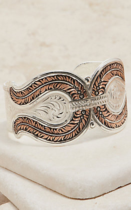 Montana Silversmiths Glacier Feather Cuff Bracelet