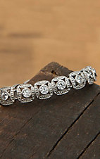 Montana Silversmiths Silver Square Chain Crystal Bracelet