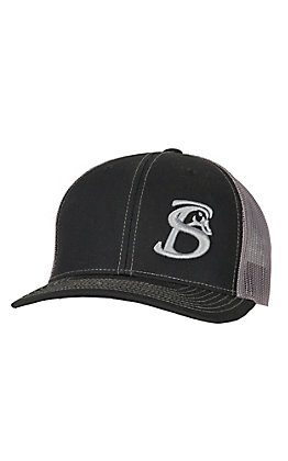Stackin Bills Black with Charcoal Mesh Logo Snapback Cap BCCSNAP