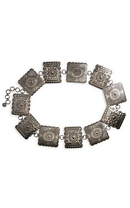 Lucky & Blessed Silver Square Concho Belt