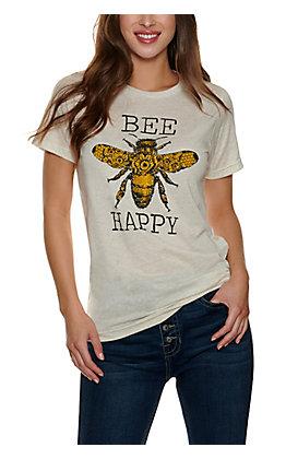 Too Floozy Women's Cream Bee Graphic T-shirt