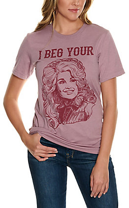 Rowdy Crowd Women's Blush I Beg Your Parton Short Sleeve T-Shirt