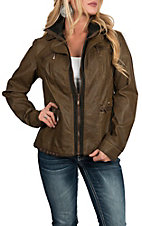 Montana Clothing Co Women's Brown Zip With Knit Jacket