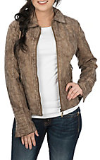 MontanaCo Women's Shitake Faux Leather Jacket