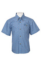 Wrangler Boys Classic Circle Print Short Sleeve Cavender's Exclusive Western Shirt