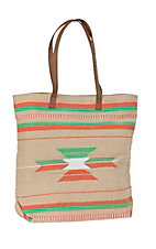 Angie Tan Woven with Aztec Print Shoulder Bag