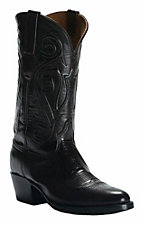 Black Jack Men's Black Cherry Brush Off with Jay Cord Top Traditional Toe Western Boots