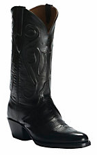 Black Jack Men's Black with Jay Cord Top Traditional Toe Western Boots