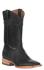 Black Jack Men's Black Maddog Elephant w/ Maddog Goat Exotic Wide Square Toe Boots