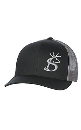 Stackin Bills Black and Grey with Buck Logo Cap