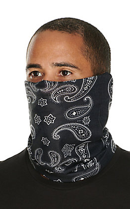 John Boy Black Paisley Face Guard