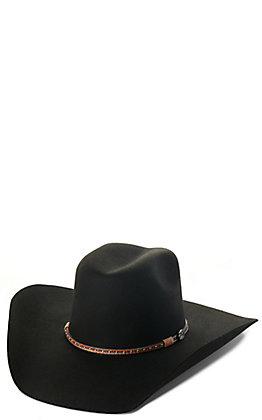 Cavender's 3X Black Premium Wool Cowboy Hat